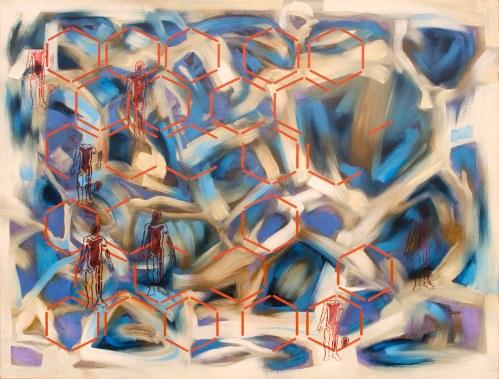 Los otros Óleo sobre superficie rígida 122 x 180 cm